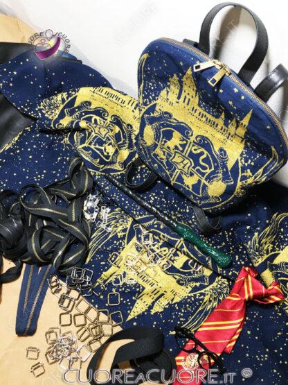 Luluna Shield Golden Night Custom BackPack Zainetto Personalizzato Harry Potter materiale e zainetto