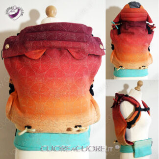 Oscha Orion Noosa WrapConversion FullBuckle Custom Baby Carrier HeadrestK awaii Ears Marsupio Con Fascione