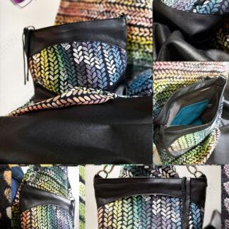 Borsa Pelle Wrap Scrap WovenWings Heroes Custom Italian Leather Bag