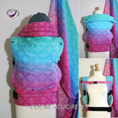 Oscha Starry Night Cotton Candy WrapConversion Custom BabyCarrier Marsupio Personalizzato