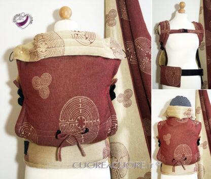Vatanai Labyrinth Reims Wrap Conversion Marsupio FullBuckle Standard Belt Pocket Custom Baby Carrier