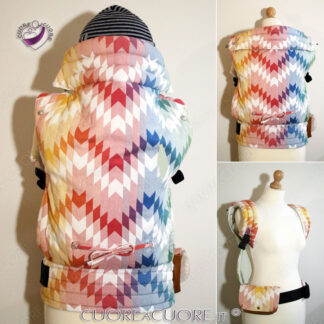 Woven Wings Catch A Rainbow WrapConversion Custom BabyCarrier Marsupio Portabimbi Personalizzato Babywearing