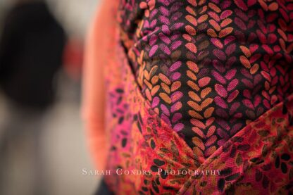Woven Wings Knitwear Stockinette Autumn Sunset Wrap