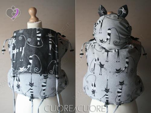 ennyLamb Crazy Cats Wrap Conversion Marsupio Onbuhimo 2in1