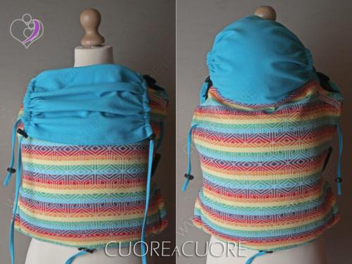 Littla Frog Rainbow Cube Wrap Conversion Marsupio Onbuhimo Strutturato 2in1