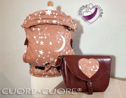 Lovaloom Custom BabyCarrier Marsupio Portabimbi Personalizzato e Leather Bag Borsa In Pelle Scrap WrapConversion