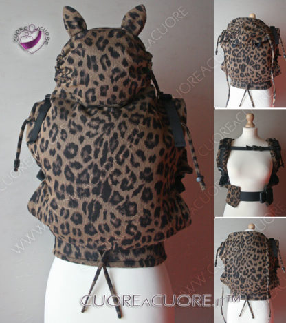 Marsupio Con Fascione Orecchie WrapConversion AP Leopard Mania