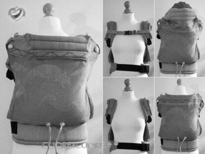 Oscha Okinami Spice Custom Baby Carrier Wrap Conversion MarsupioF ullBuckle Personalizzato PRESET
