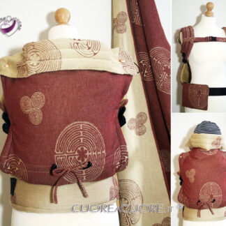 Vatanai Labyrinth Reims Wrap Conversion Marsupio FullBuckle Standard Belt Pocket Custom Baby Carrier